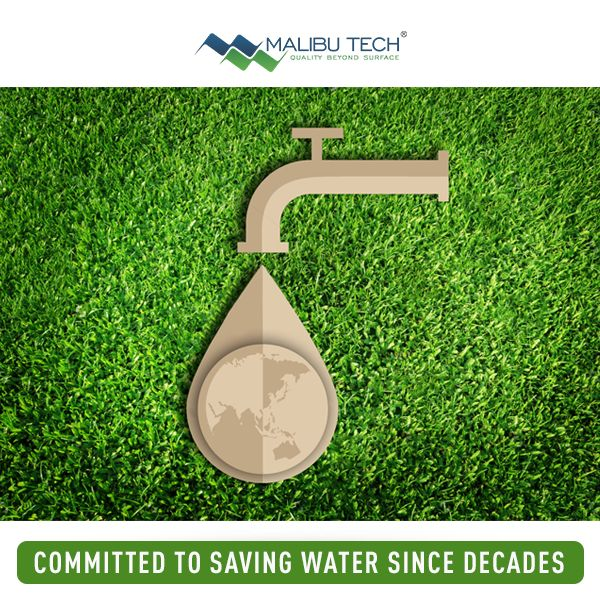 Malibu Tech is committed to saving water since decades. Taking Lush Green and Lush Sports artificial turf installations to families, sports arenas, schools etc, Malibu Tech ensures that water conservation remains our top priority.   #MalibuTech #WorldWaterDay