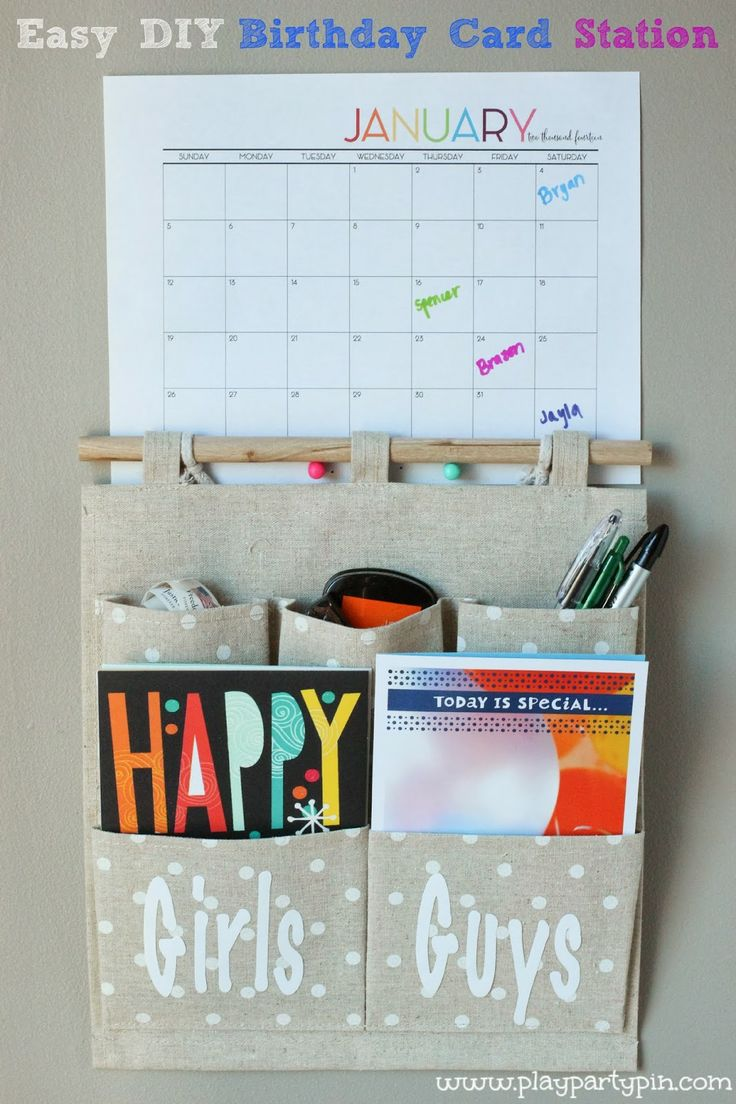 Easy DIY Birthday Card Station you need to make to help you get organized this year #ValueCards #shop #cbias