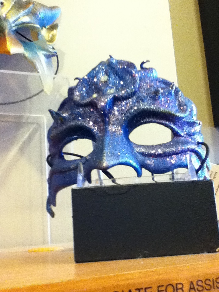 Blue theater mask