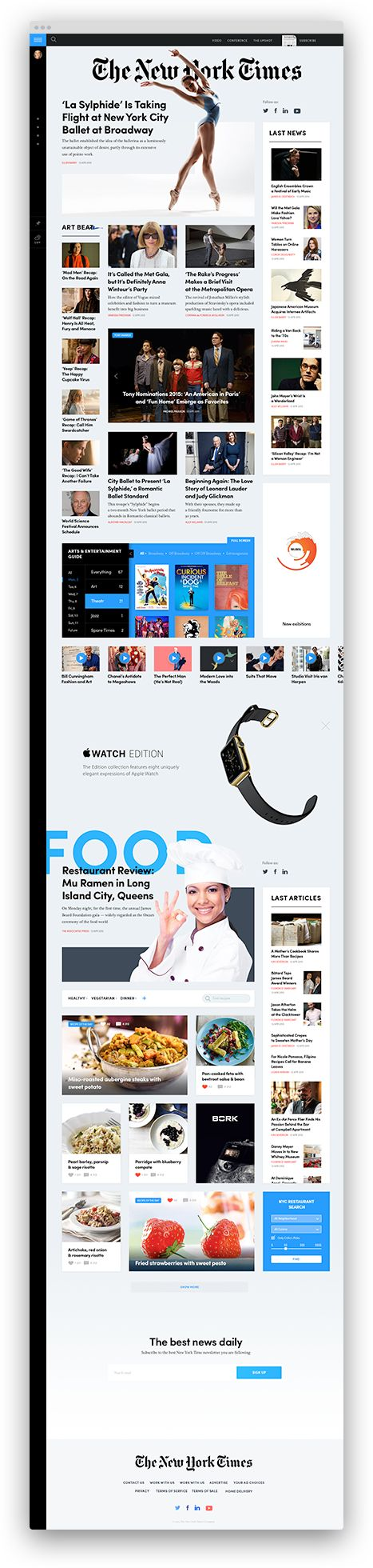 NYTimes Design Concept: Arts & Fashion Grid / Tema Troinoi
