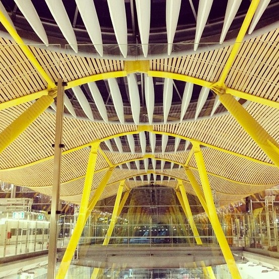 Barajas Airport in Madrid, Spain designed by architects Antonio Lamela and Richard Rogers