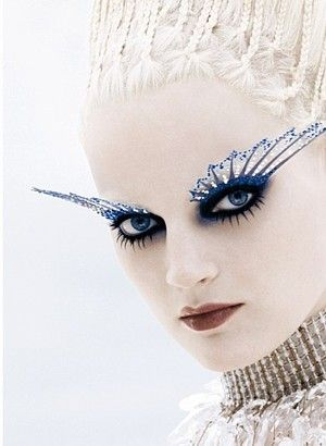 NARS ad, fall/holiday 2005: Snow Queen, Ice Queen, Makeup Tools, Eye Makeup, Ice Princesses, Makeup Art, Makeup Looks, Cool Ideas, Crazy Makeup