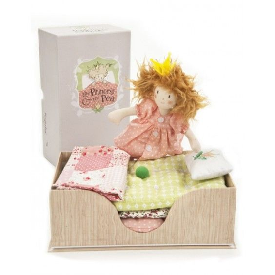 Ragtales' The Princess and the Pea is a beautiful doll that comes with her very own bed that is layered with mattresses - one including that infamous pea! #ragtales #princess #dolls