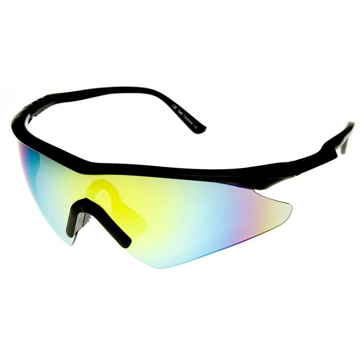 Speed Brand Large Half Frame Semi-Rimless Revo Sports Sunglasses
