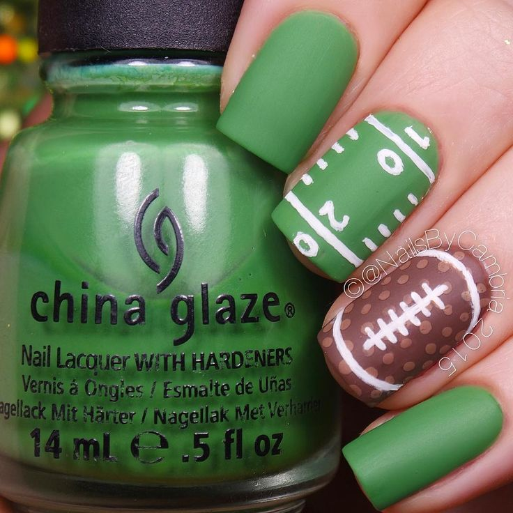 Football Inspired Nails