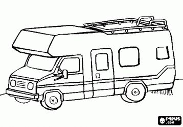 Rv Coloring Pages Campervan Or Motorhome Coloring Page