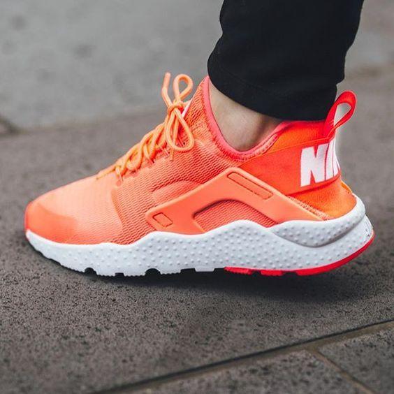 Nike Bright Mango Air Huarache Run Ultra Sneakers