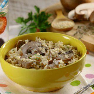 Arroz Integral y Quinoa con Hongos