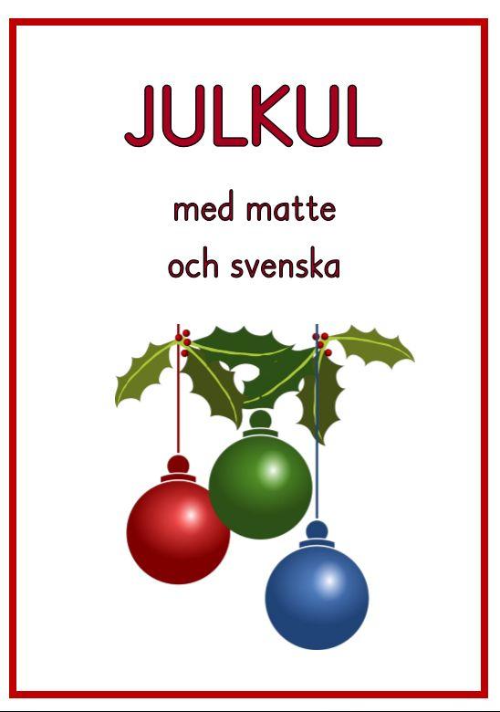 Julhäfte med kluriga matte och svenskauppgifter