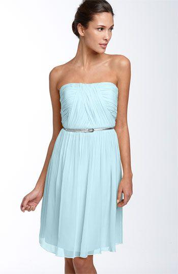 Pretty: Belted Chiffon, Blue Bridesmaid, Wedding Ideas, Bridesmaid Dresses, Morgan Belted, Chiffon Dresses, Weddingideas