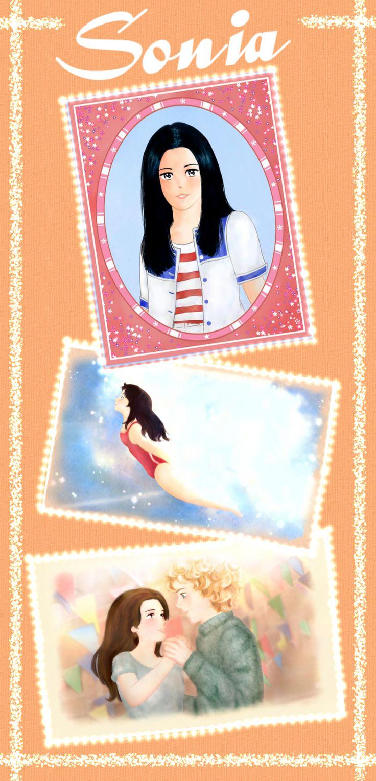 """""""Sonia"""": illustrazioni per il romanzo per ragazzi """"Vivere a Venezia"""", di Laura M. Cecilia Ferro. #illustrazioni, #manga, #cartoon"""