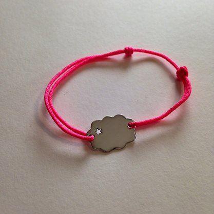 Bracelet mokuba et pendentif argent massif