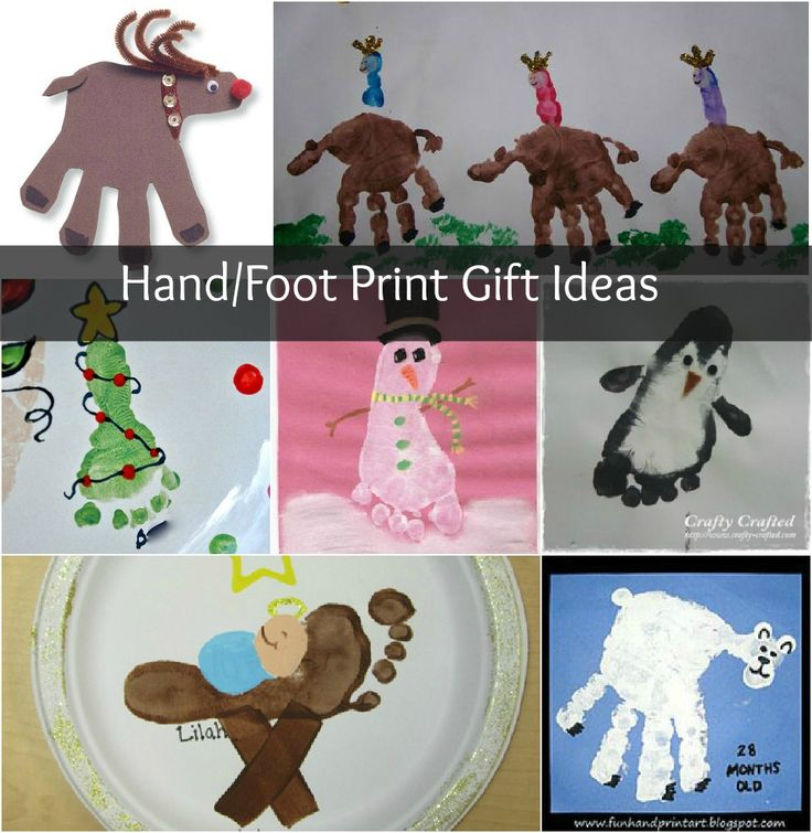 Christmas Crafts Hand And Foot Print Homemade Gifts