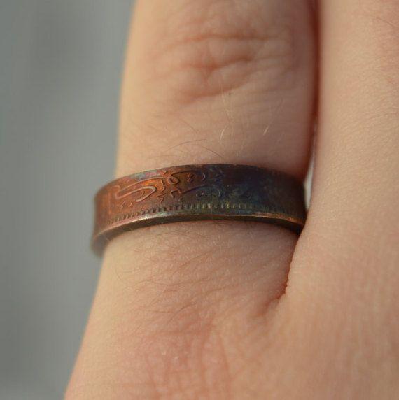 Coin Ring/ Münzring 1 FilsKuwait sizeUSA 6.5/ GrößeDE 17