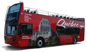 Groupon - 14,99 $  pour un tour de soirée en bus rouge à deux étages avec Tours du Vieux-Québec (valeur de 28,70 $) à Point de vente / Information Touristique . Prix Groupon : 14,99$