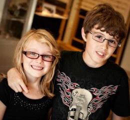Children's rectangle glasses