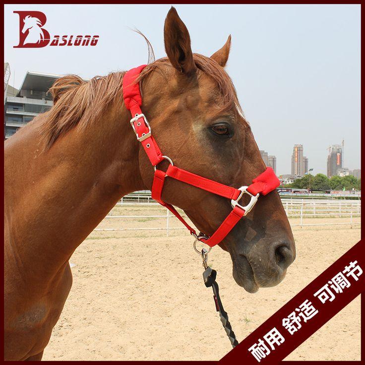 Antifrizione Nylon formato halter equestre sellerie forniture cavallo briglia adjustble multi color