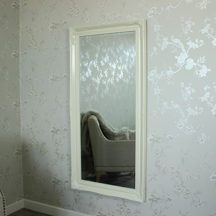 Extra Large Cream Ornate Wall Floor Mirror 158cm X 78cm