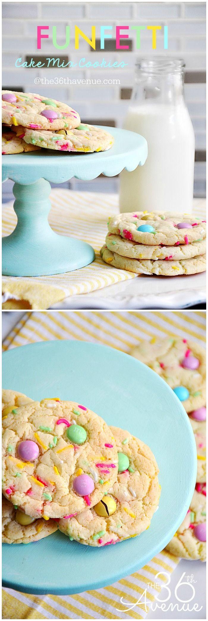 Cake cookie recipes funfetti