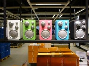 Radios, Clas Ohlson, Newcastle (23 Aug 2011). Photograph by Graham Soult