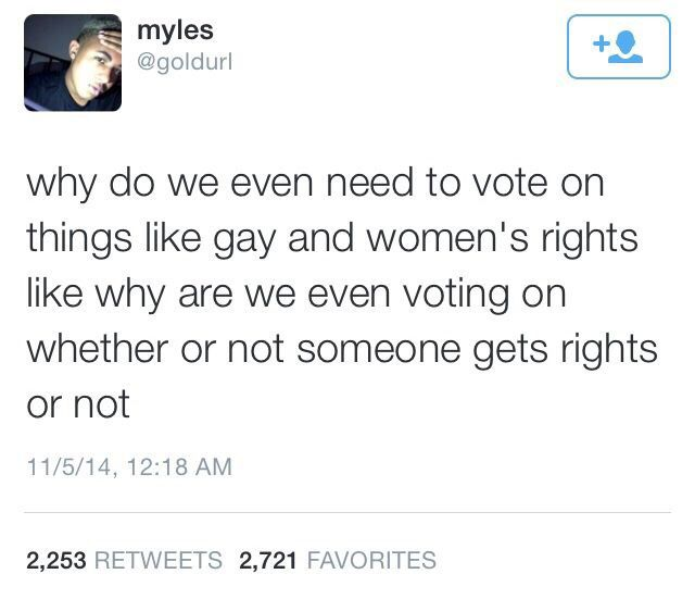 it should be typical and a nonexistent issue. there shouldn't even be a question about it. everyone deserves fundamental rights.
