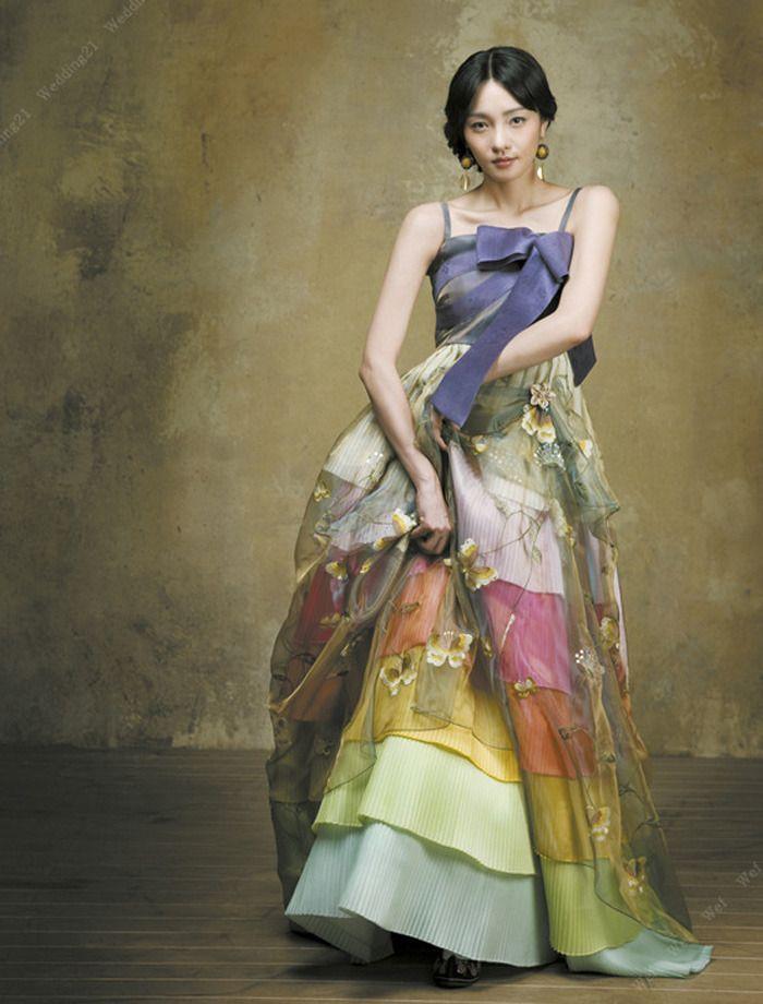 a beautiful, modern twist on a traditional hanbok