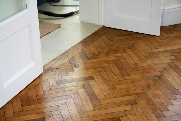Oiled Oak Woodblock Parquet Flooring