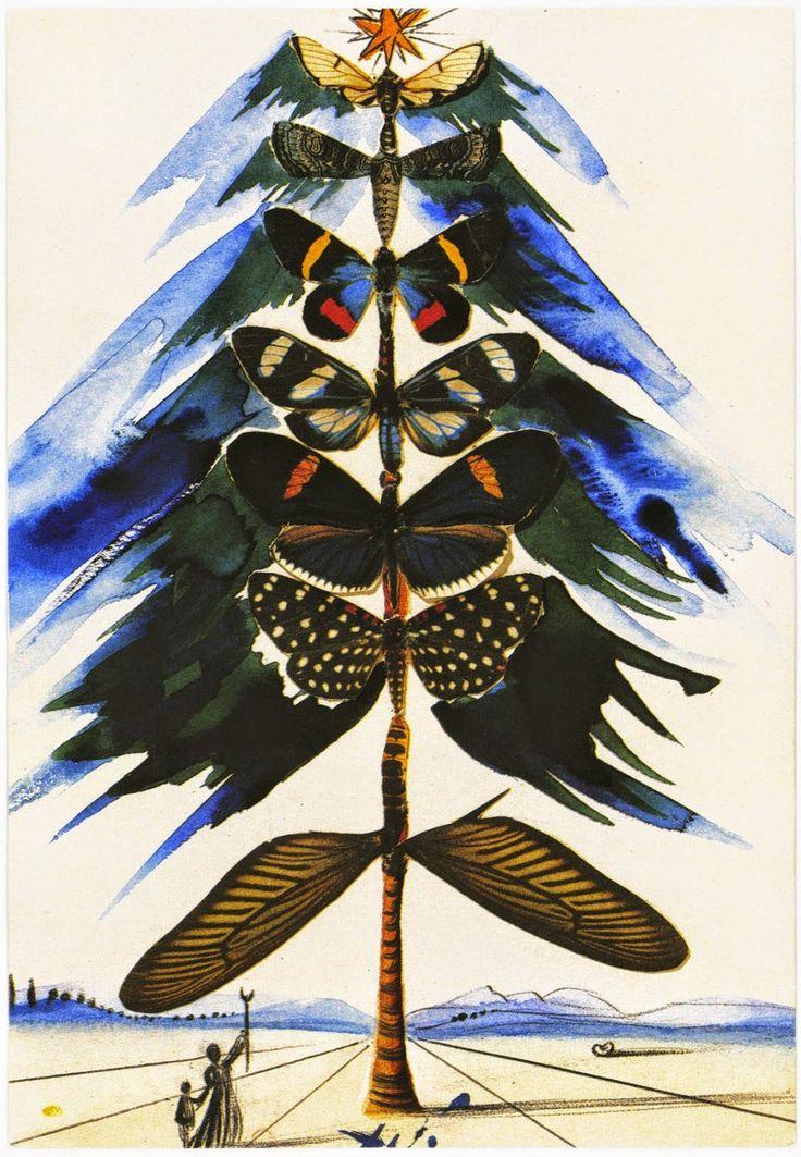Tarjetas navideñas de Salvador Dalí.