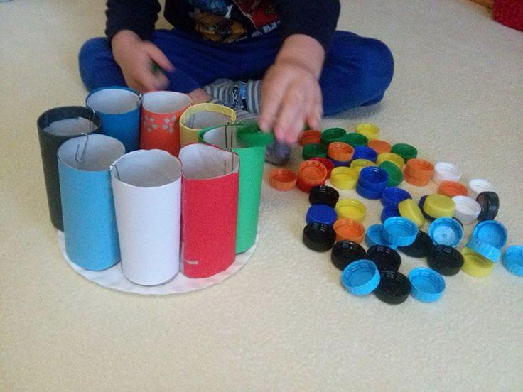 Učení barviček pomocí ruliček
