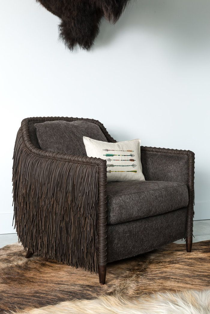 Rustic Chic Furnishings From Montanau0027s Hottest Design Duo, Fringe Side  Chair, Urbaine Home
