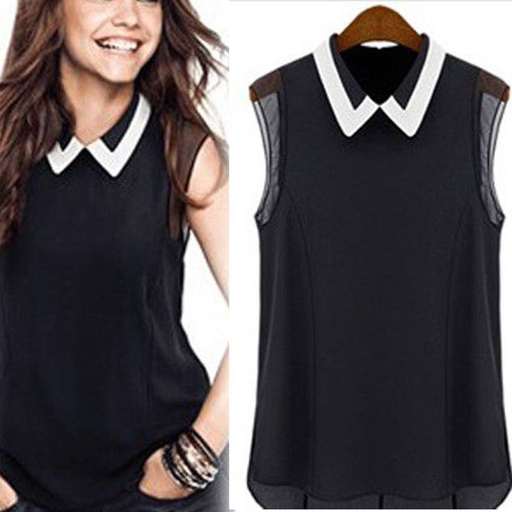 Women Lady Casual Comfortable Trendy Chiffon Sleeveless Vest Shirt Tops Blouse | eBay