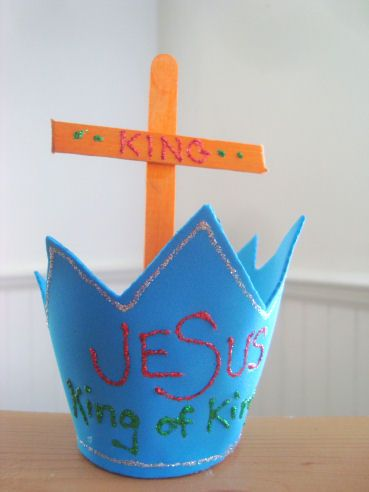 """Catholic ABC's Week: 16 Letter of the week: K Theme: King (Jesus is King or Christ the King) Saint of the Week: Blessed Kateri Craft: Jesus is King I knew I wanted to make """"K"""" wee…"""