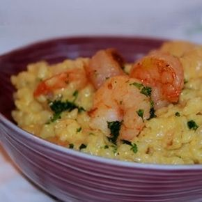 Risotto crevettes au curry