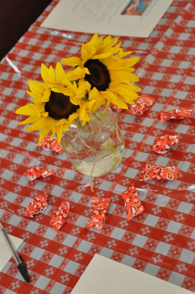 My bridal shower had a rustic country