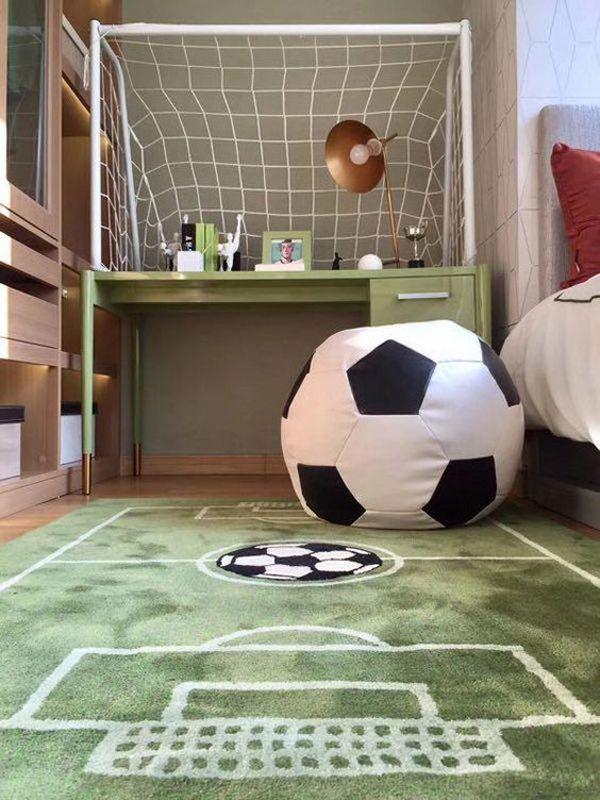 15 Modern Kids Study Desks That Kids Will Love Home Design And Interior Soccer Themed Bedroom Soccer Room Bedroom Themes