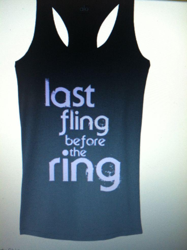 Bachelorette party shirt idea