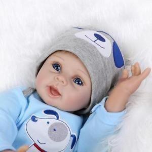 """Bambole Reborn 22"""" Silicone Reborn Baby Boy Doll Baby Toy Dolls  Snoopy"""