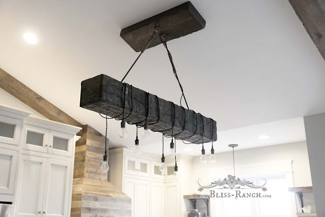 Faux Beam Hanging Ceiling Light, Bliss-Ranch.com