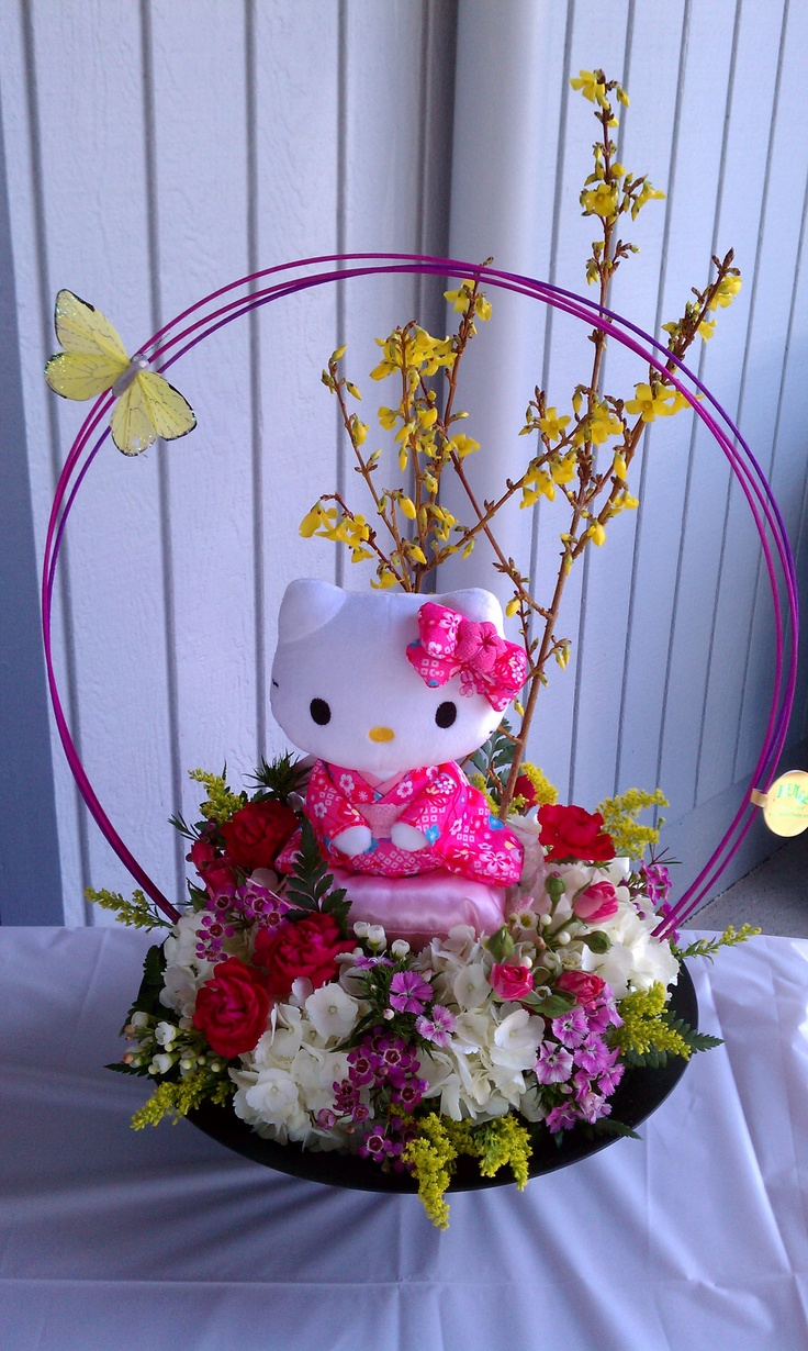 Yakudoshi Centerpiece Ideas : Best images about girls party hello kitty on