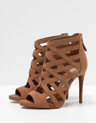 6c738d196aa2 Bershka criss-cross strappy sandals - Woman - Bershka Indonesia ...
