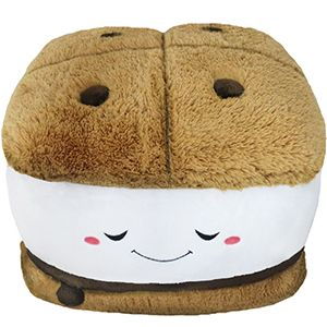 Squishable S'more! A cuddly pal just in time for summer campouts! #squishable #smore #plush