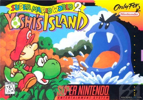 Super Mario World 2: Yoshi's Island (SNES / Super Nintendo) box art