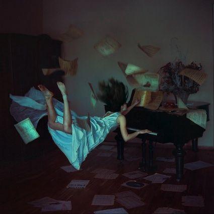 Anka Zhuravleva: The Piano, Art Photography, Digital Art, Distortion Gravity, Fall Down, Ankazhuravleva, Lightness Photography, Awesome Photography, Anka Zhuravleva