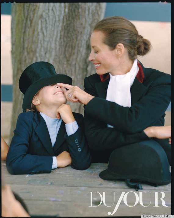 christy turlington: Mothers, Christy Turlington, Daughter Grace, Mother Christy S, Dujour Bruce Weber, Dujour 2012, Photo, Mom