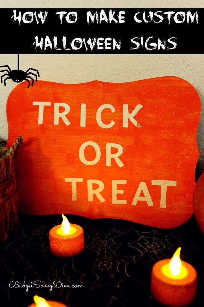 How To Make Custom Halloween Signs
