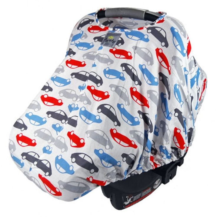 Red and Blue Auto Car Seat Canopy Cover: a bubbly and fun pattern filled with daring colors