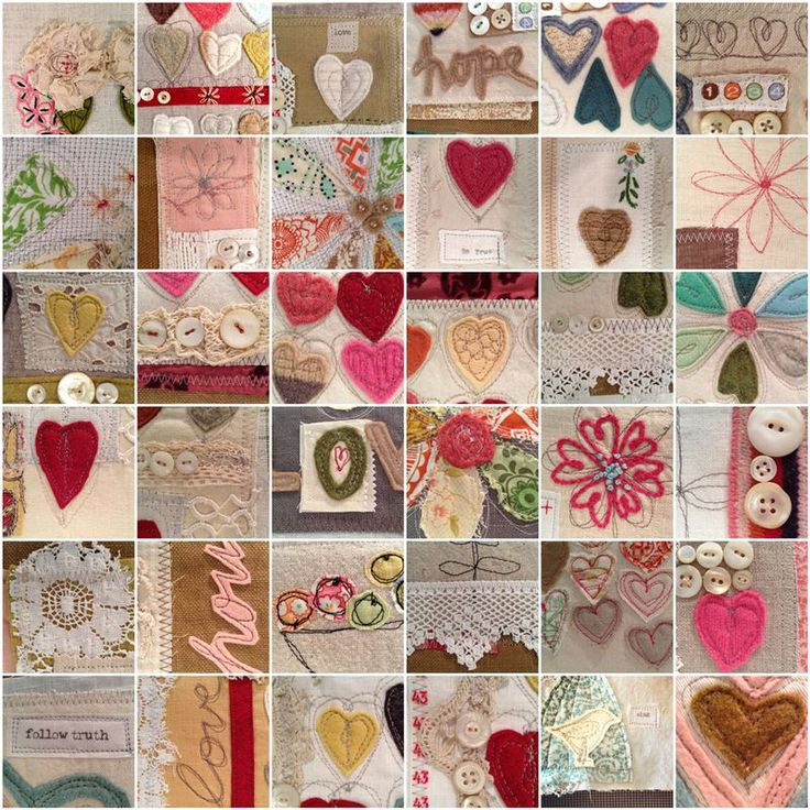 Mosaic-heart-journals by Rebecca Sower