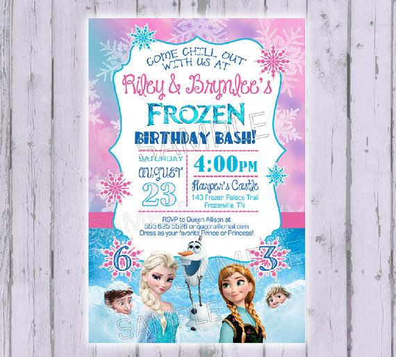 Frozen Invitation Disney By PoshPaisleyBoutique