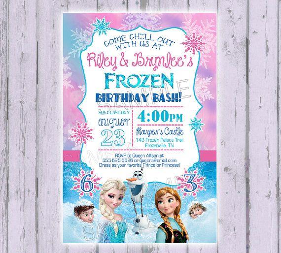 Frozen Invitation  Frozen Birthday by PoshPaisleyBoutique on Etsy