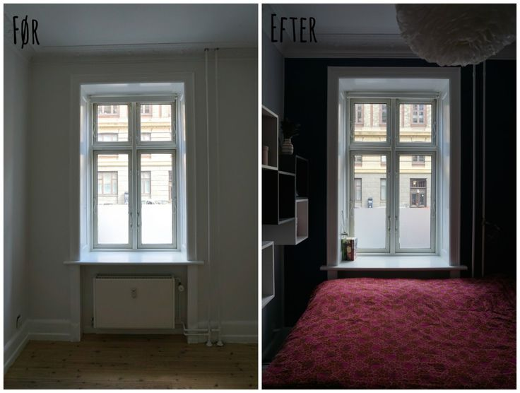 Bedroom before/after photos // Soveværelse før/efter-billeder ...